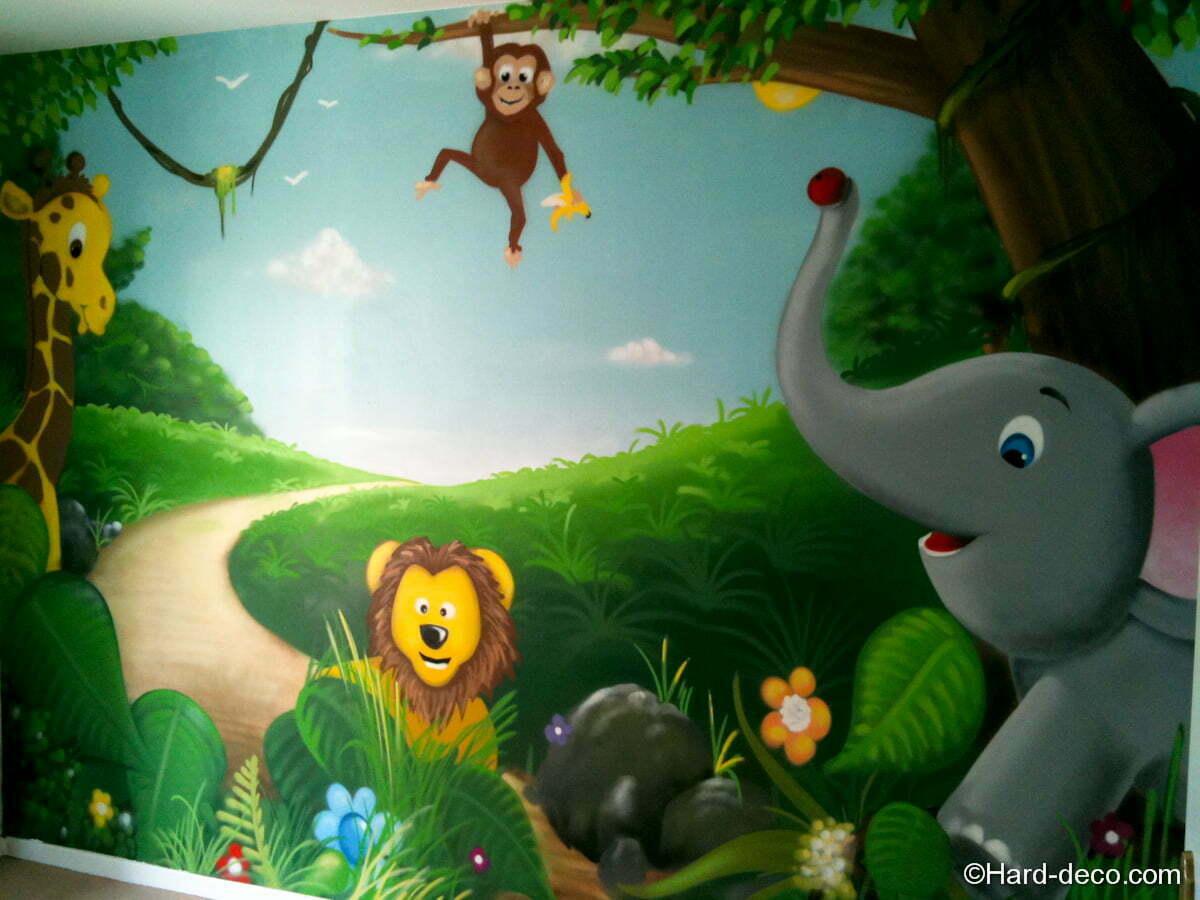 Deco Jungle Chambre Enfant chambre bébé animaux de la jungle | hard deco
