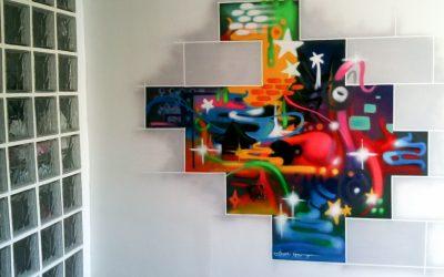 Décoration vestibule street art