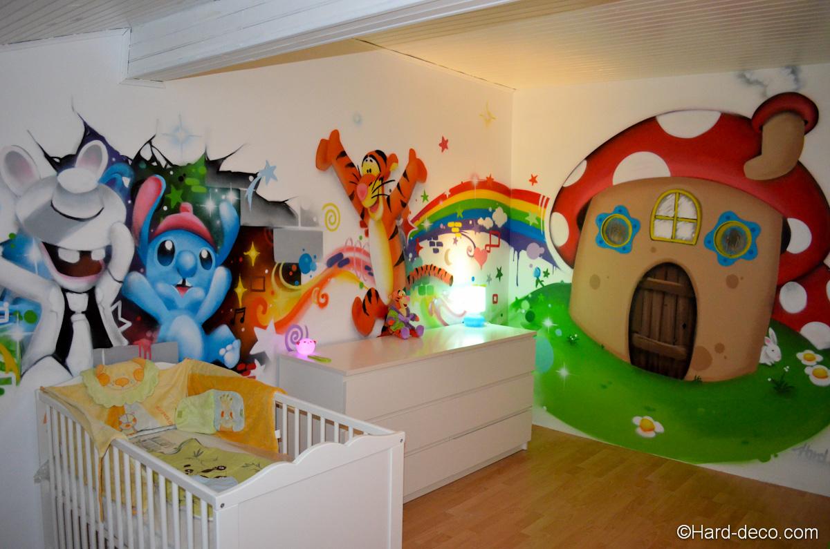 Déco chambre maison champignon