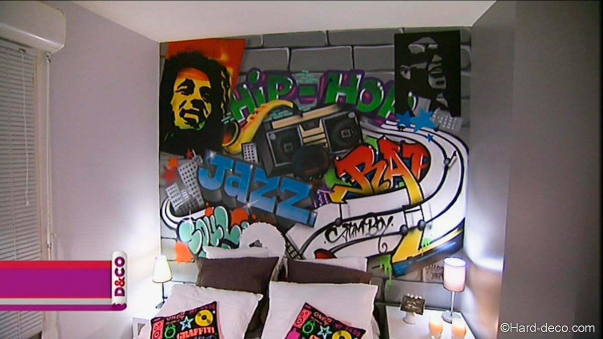 Peinture Tag Pour Chambre décoration graffiti m6 d&co | hard deco