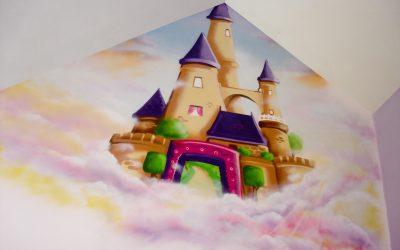 Chateau de princesse dans le ciel