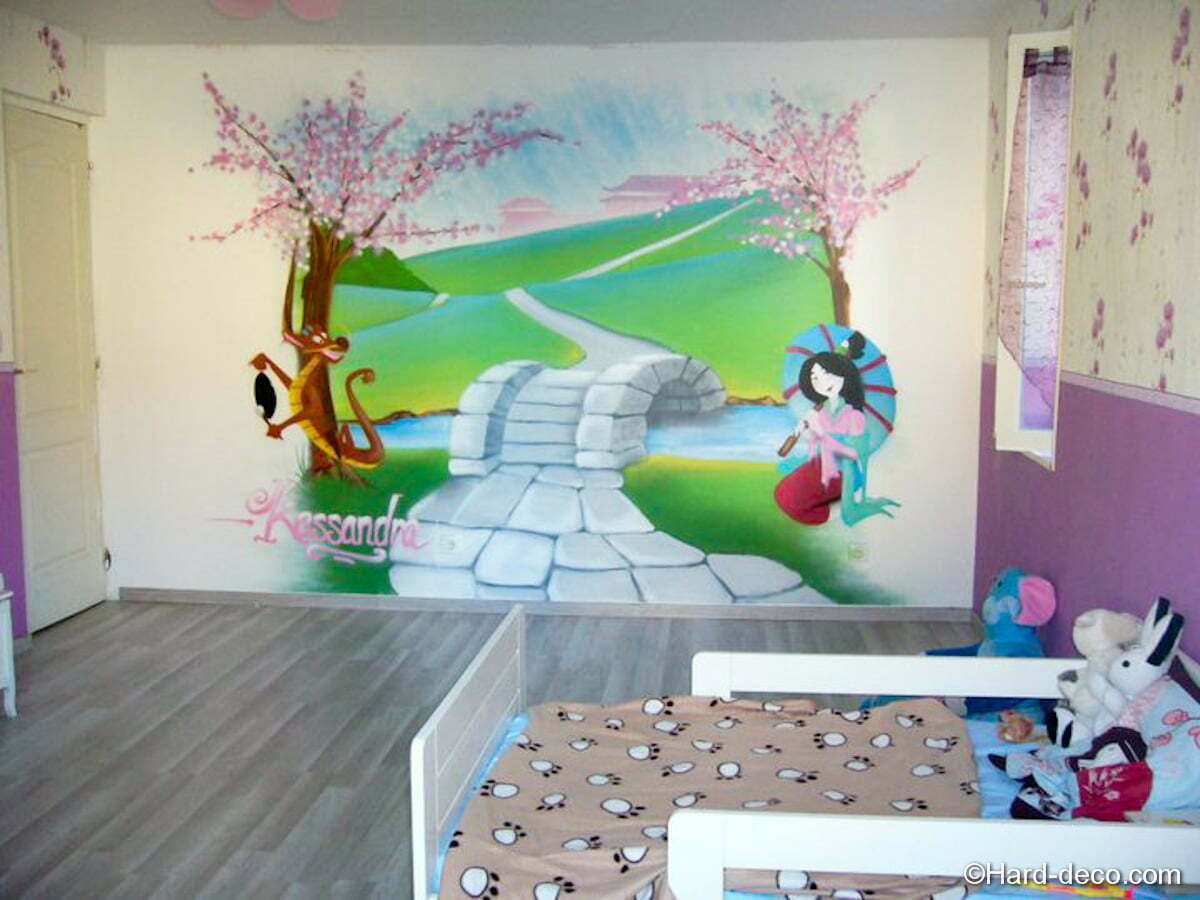 Décoration chambre Mulan  Hard Deco
