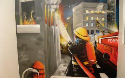Chambre d'enfant pompier