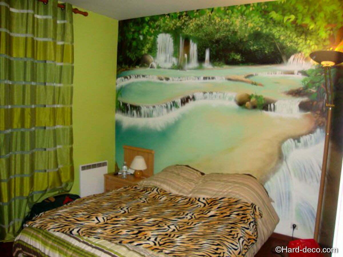 Deco Jungle Chambre Adulte trompe l'oeil chambre adulte | hard deco