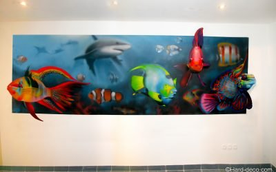 Fresque aquarium