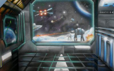 Trompe l'oeil vaisseaux Star Wars