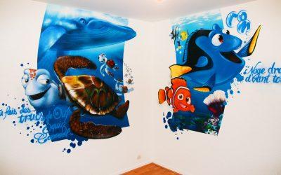 Fresque mural Némo