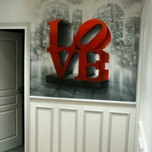 Peinture vue de l'entrée du couloir