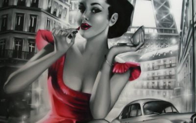 Fresque pinup Paris