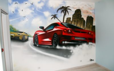 Chambre course de Ferrari