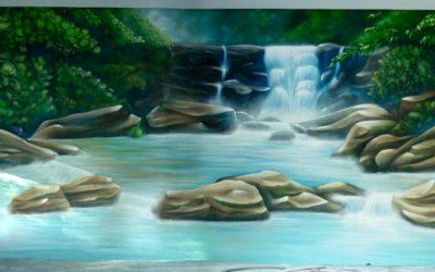 Décor de piscine Cascades