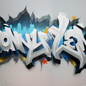 Graffiti Sonny & Lenny en décoration de chambre