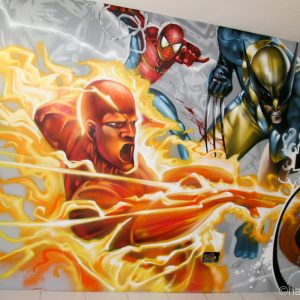 La Torche, Spiderman et Wolverine