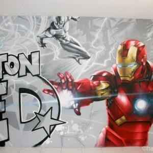 Tornade, le surfeur d'argent et Iron Man