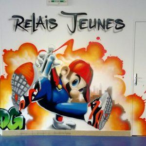 Décor Mario Bros pour une salle dédiée à la jeunesse
