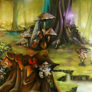 Toiles décorative grand format sur le thème des Korrigans