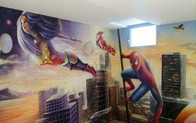 Salle de jeux Marvel Avengers