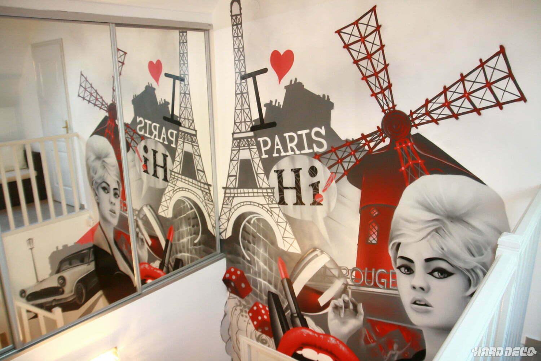 Decoration De Chambre Theme Paris l'escalier glamour de paris   hard deco