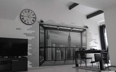 Salon avec vue sur l'Empire state building
