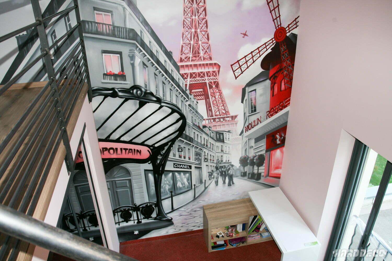 Decoration De Chambre Theme Paris rue de paris   hard deco
