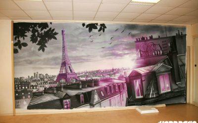 Toile Paris en rose !