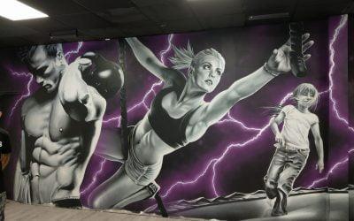 Salle Fitness Trampoline