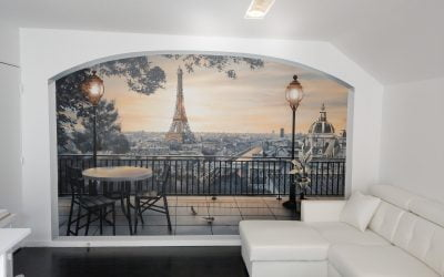 Trompe l'oeil «Balcon parisien»