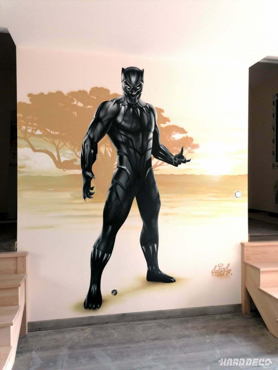 Black panther en décoration de chambre d'enfant