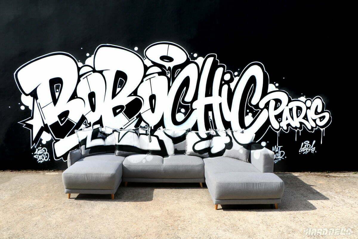Anamorphose graffiti pour l'entreprise Bobochic Paris