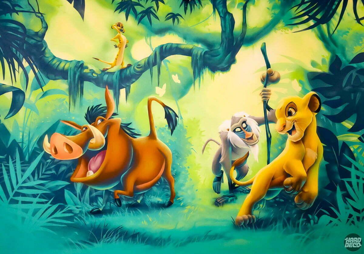 Fresque murale le roi lion