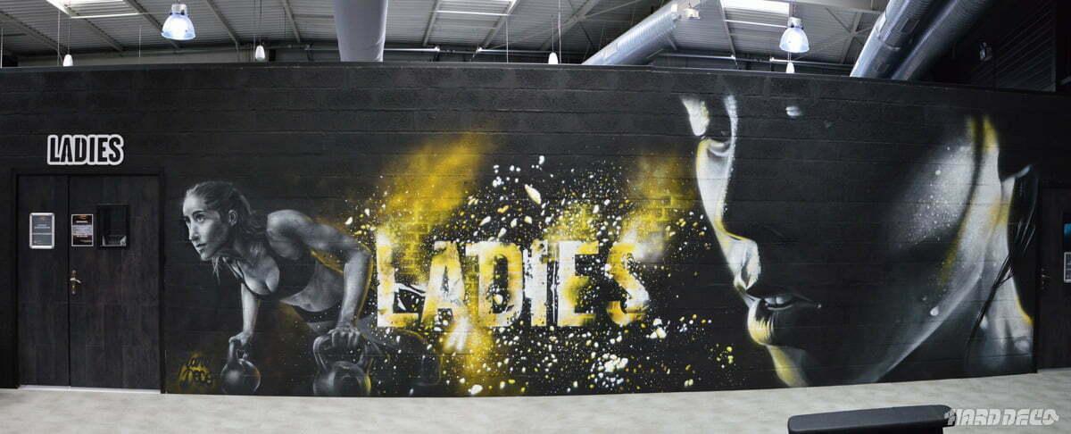 Fresque espace ladies au fitness Park